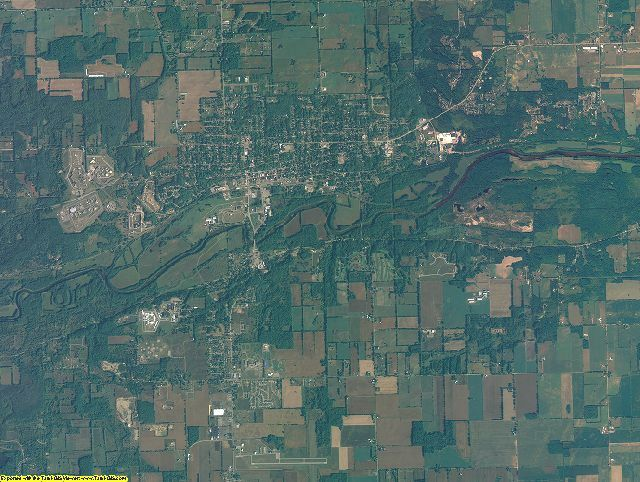 Ionia County, Michigan aerial photography