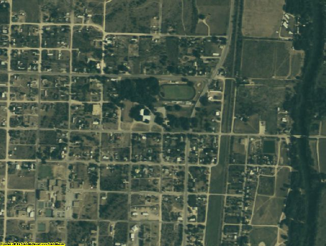 Irion County, TX aerial photography detail