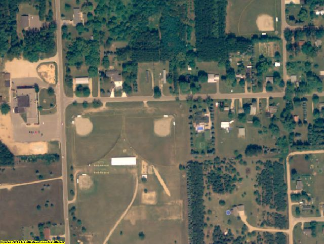 Isabella County, MI aerial photography detail