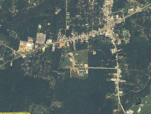 Jasper County, Texas aerial photography