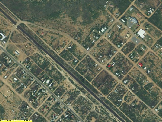 Jeff Davis County, TX aerial photography detail