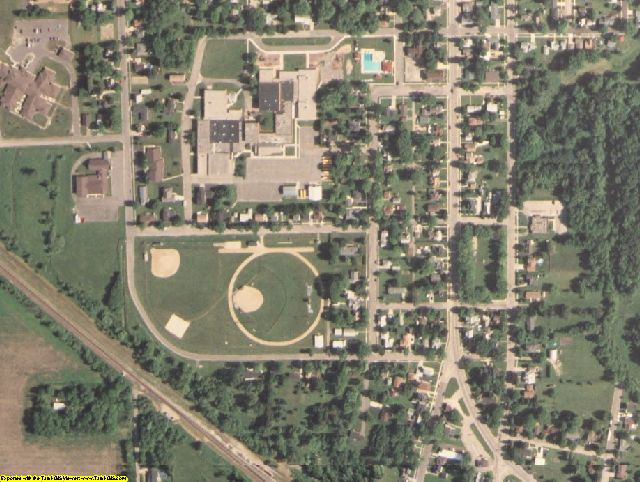 Juneau County, WI aerial photography detail