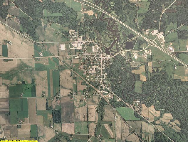 Juneau County, Wisconsin aerial photography