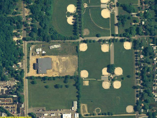 Kalamazoo County, MI aerial photography detail