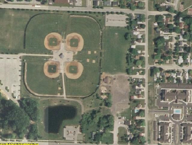 Kenosha County, WI aerial photography detail