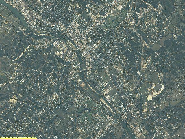 Kerr County, Texas aerial photography