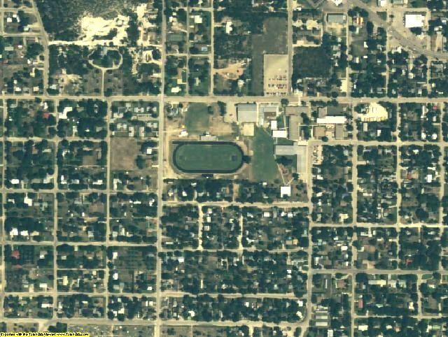 Kimble County, TX aerial photography detail