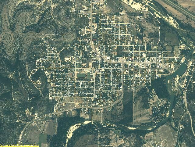 Kimble County, Texas aerial photography