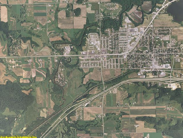 La Crosse County, Wisconsin aerial photography