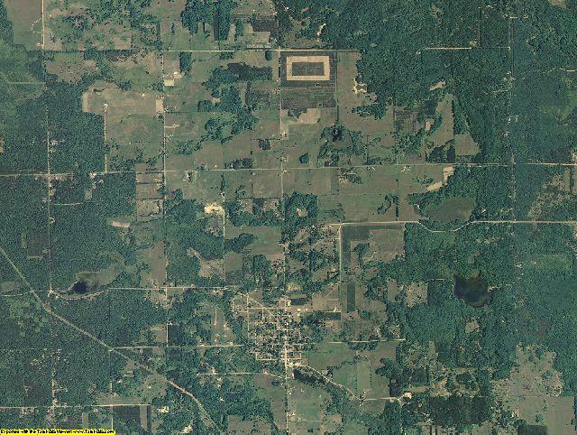 Lake County, Michigan aerial photography