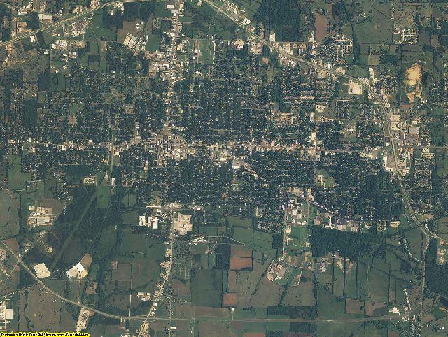 Lamar County, Texas aerial photography