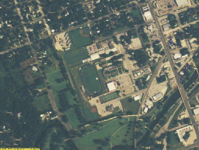 Lampasas County, TX aerial photography detail