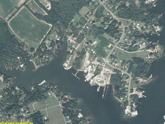 Lancaster County, VA aerial photography detail