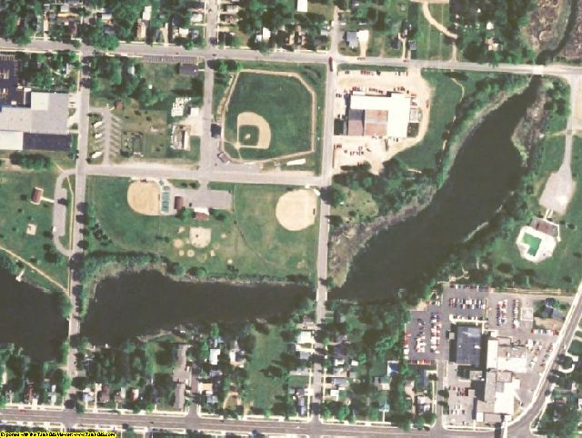 Langlade County, WI aerial photography detail