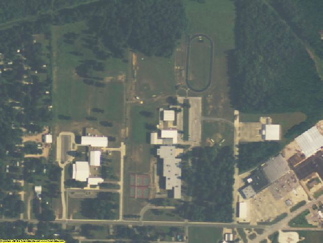 Liberty County, TX aerial photography detail