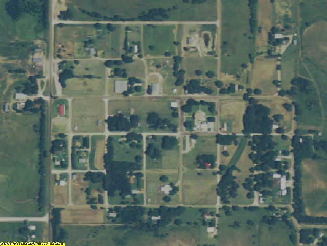 Lipscomb County, TX aerial photography detail