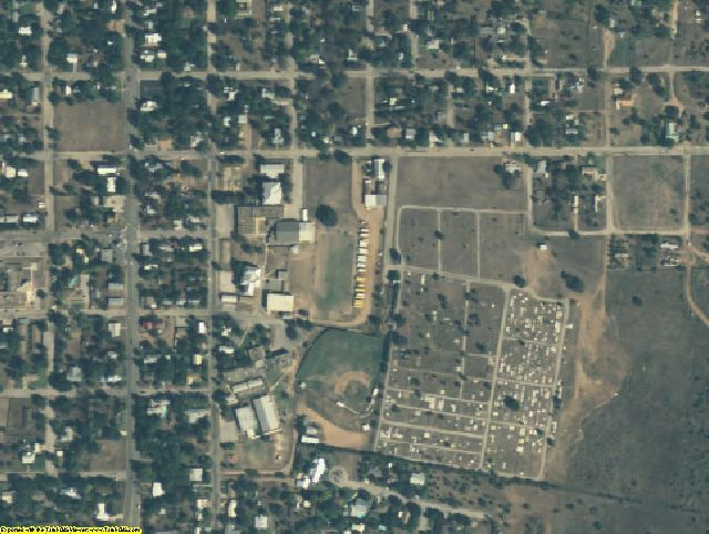 Llano County, TX aerial photography detail
