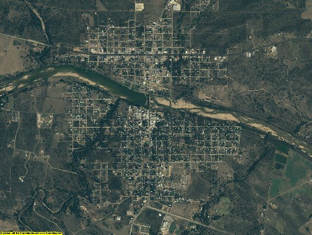 Llano County, Texas aerial photography