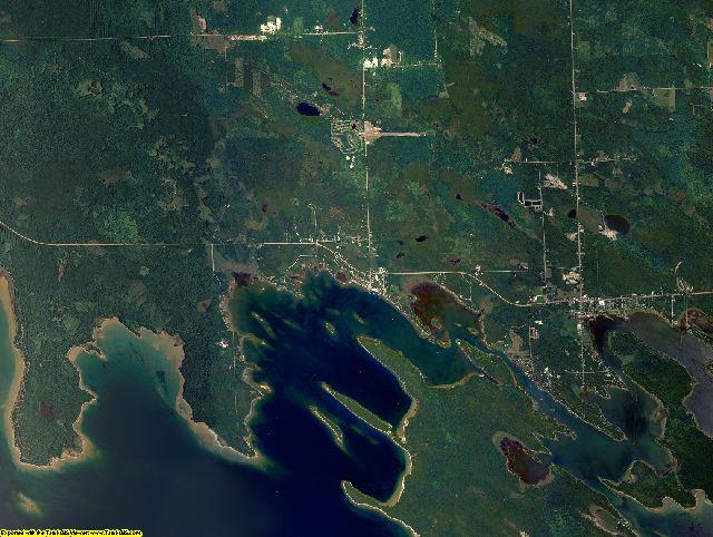 Mackinac County, Michigan aerial photography