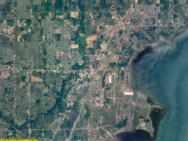 Macomb County, Michigan aerial photography
