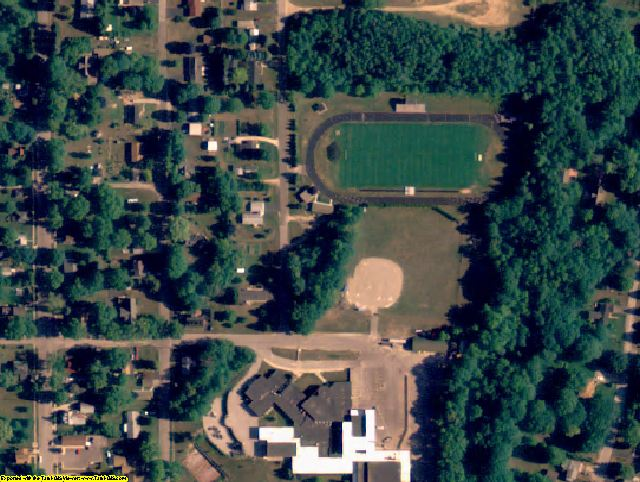 Manistee County, MI aerial photography detail