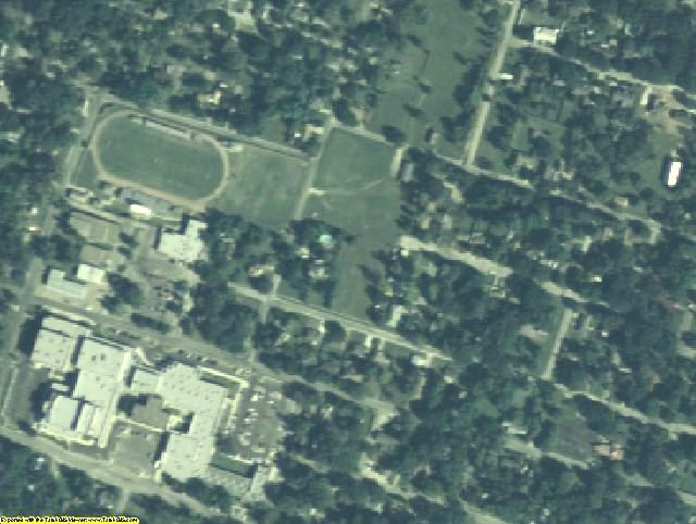 Milam County, TX aerial photography detail