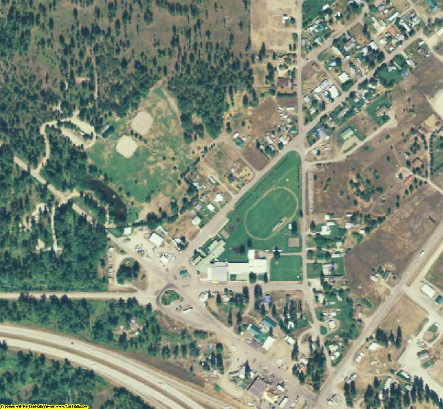 Mineral County, MT aerial photography detail