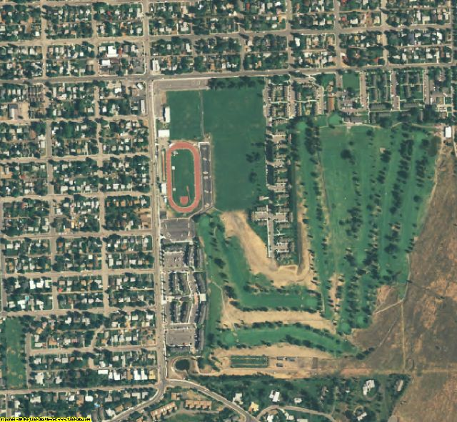 Missoula County, MT aerial photography detail