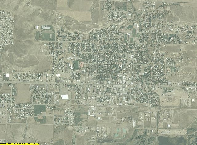 Moffat County, Colorado aerial photography