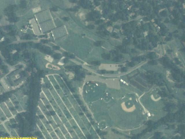 Navarro County, TX aerial photography detail