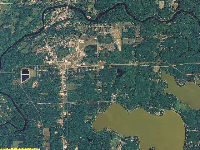 Newaygo County, Michigan aerial photography