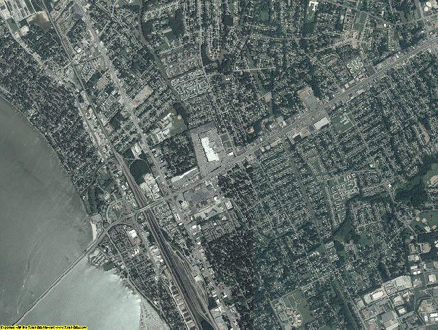 Newport News County, Virginia aerial photography