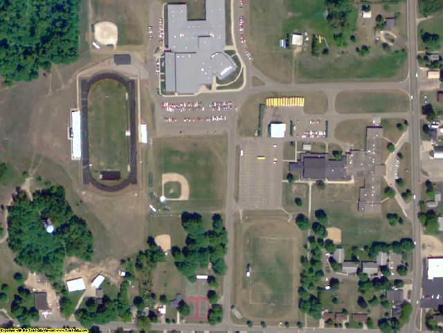 Oceana County, MI aerial photography detail