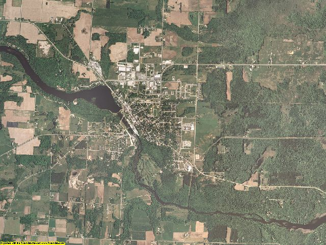 Oconto County, Wisconsin aerial photography