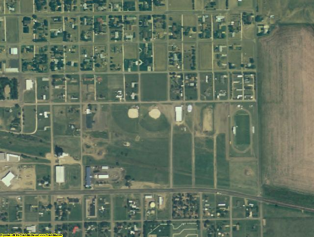 Oldham County, TX aerial photography detail