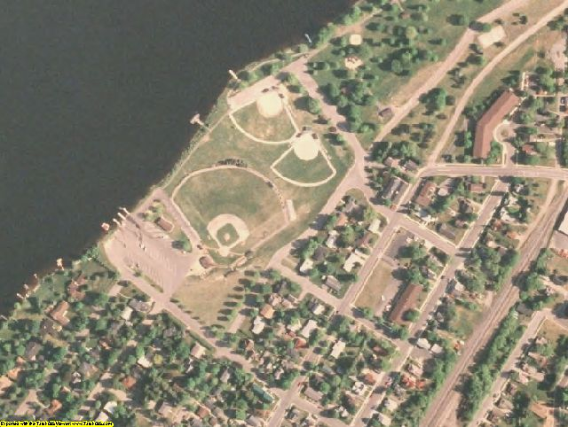Oneida County, WI aerial photography detail