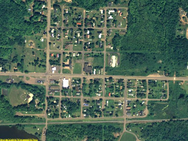 Ontonagon County, MI aerial photography detail
