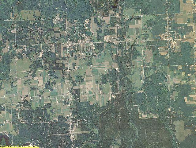 Oscoda County, Michigan aerial photography