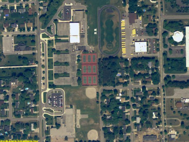 Ottawa County, MI aerial photography detail