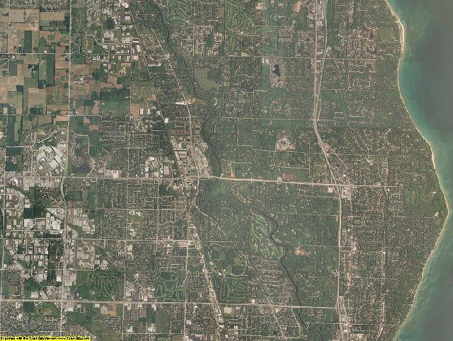 Ozaukee County, Wisconsin aerial photography