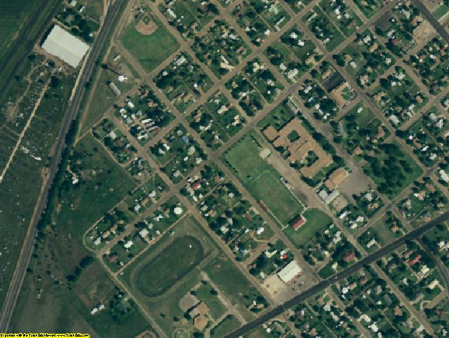 Parmer County, TX aerial photography detail