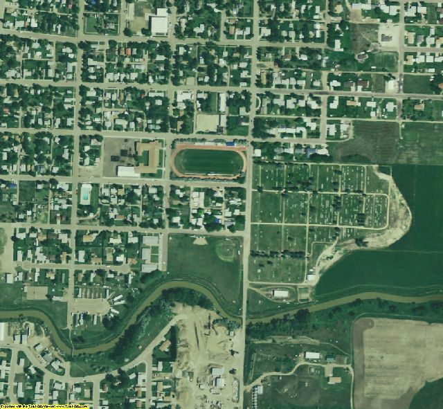 Phillips County, MT aerial photography detail