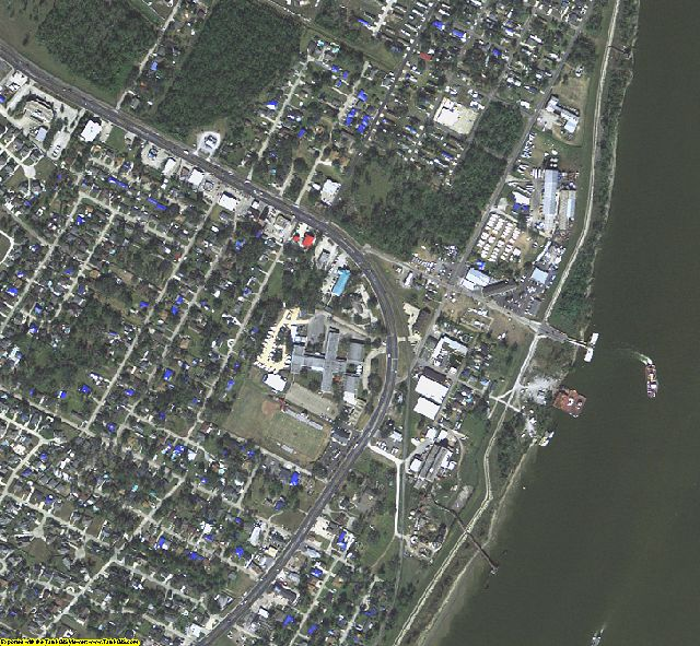 Plaquemines County, LA aerial photography detail