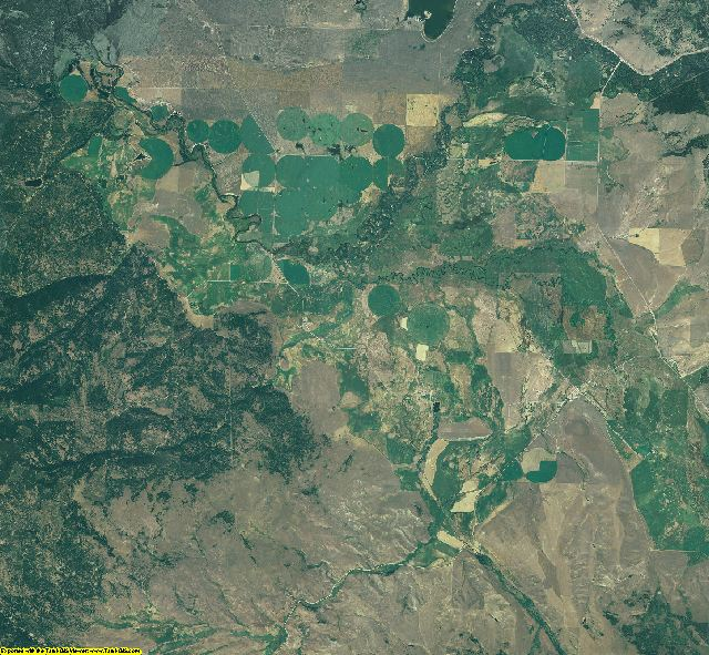 Powell County, Montana aerial photography