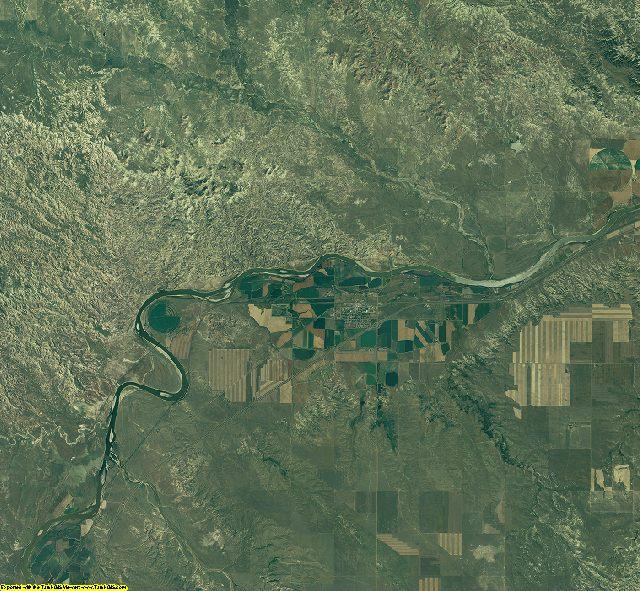 Prairie County, Montana aerial photography