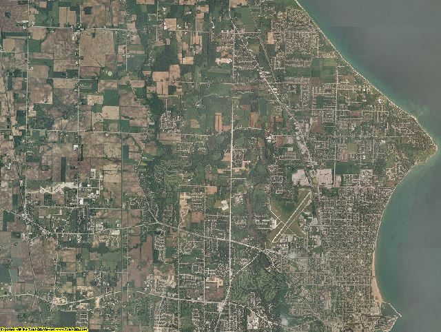 Racine County, Wisconsin aerial photography