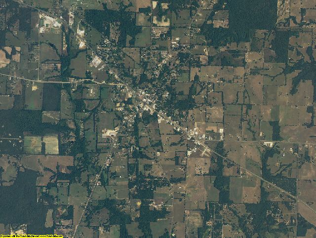 Rains County, Texas aerial photography