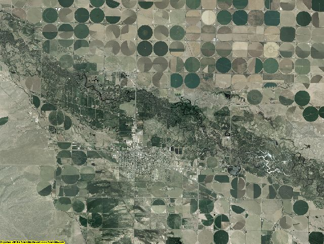 Rio Grande County, Colorado aerial photography