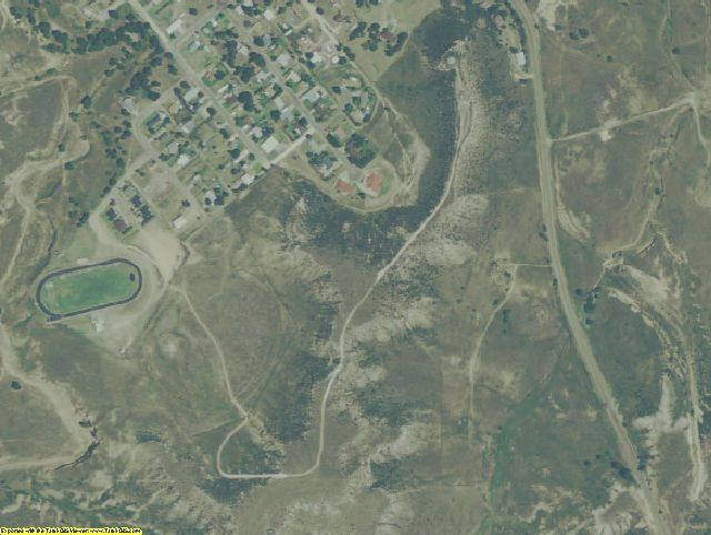 Roberts County, TX aerial photography detail