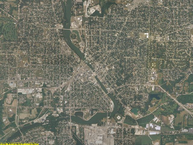Rock County, Wisconsin aerial photography